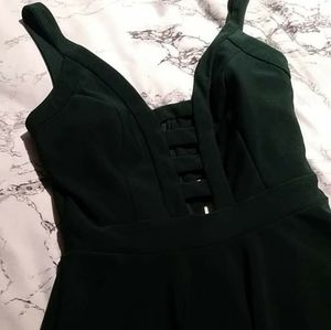 💚Caged Mini Emerald A-line Dress